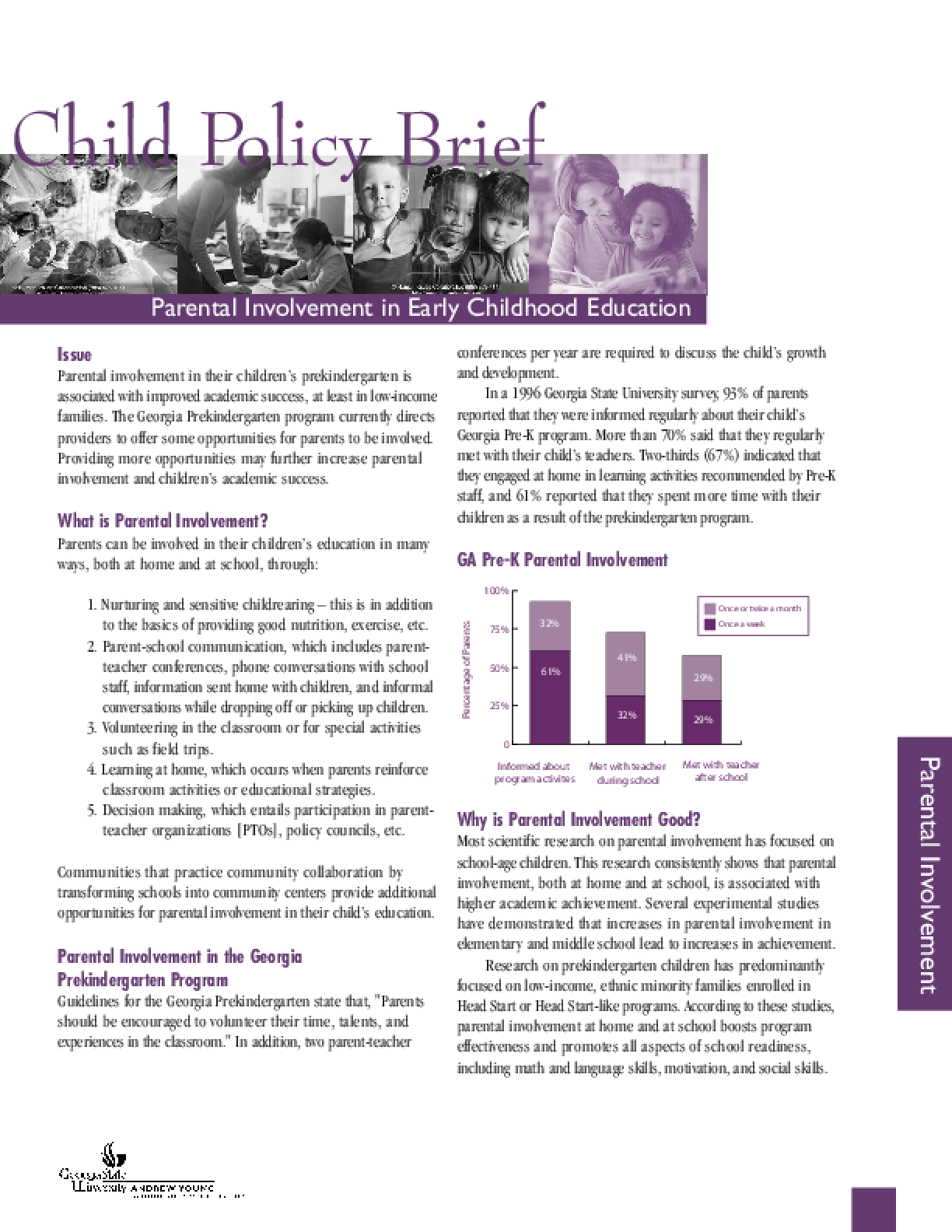 Parental Involvement in Early Childhood Education