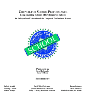 Long-Standing Reform Effort Improves Schools: An Independent Evaluation of the League of Professional Schools