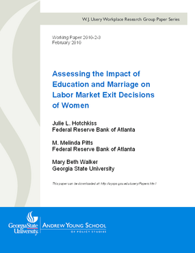 Assessing the Impact of Education and Marriage on Labor Market Exit Decisions of Women