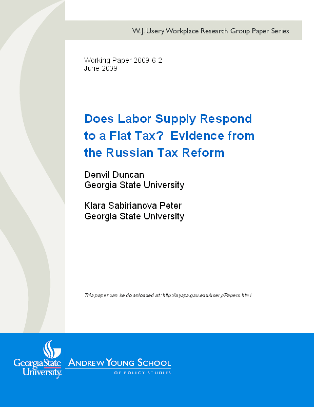 Does Labor Supply Respond to a Flat Tax? Evidence from the Russian Tax Reform
