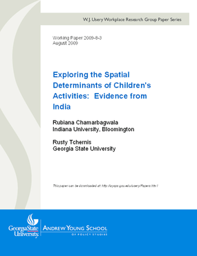 Exploring the Spatial Determinants of Children's Activities: Evidence from India