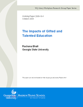 The Impacts of Gifted and Talented Education