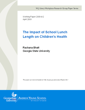 The Impact of School Lunch Length on Children's Health