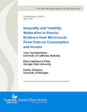 Inequality and Volatility Moderation in Russia: Evidence from Micro-Level Panel Data on Consumption and Income