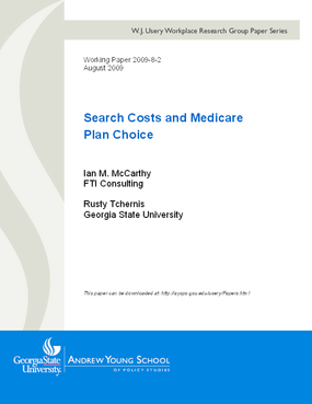 Search Costs and Medicare Plan Choice