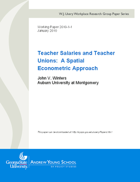 Teacher Salaries and Teacher Unions: A Spatial Econometric Approach