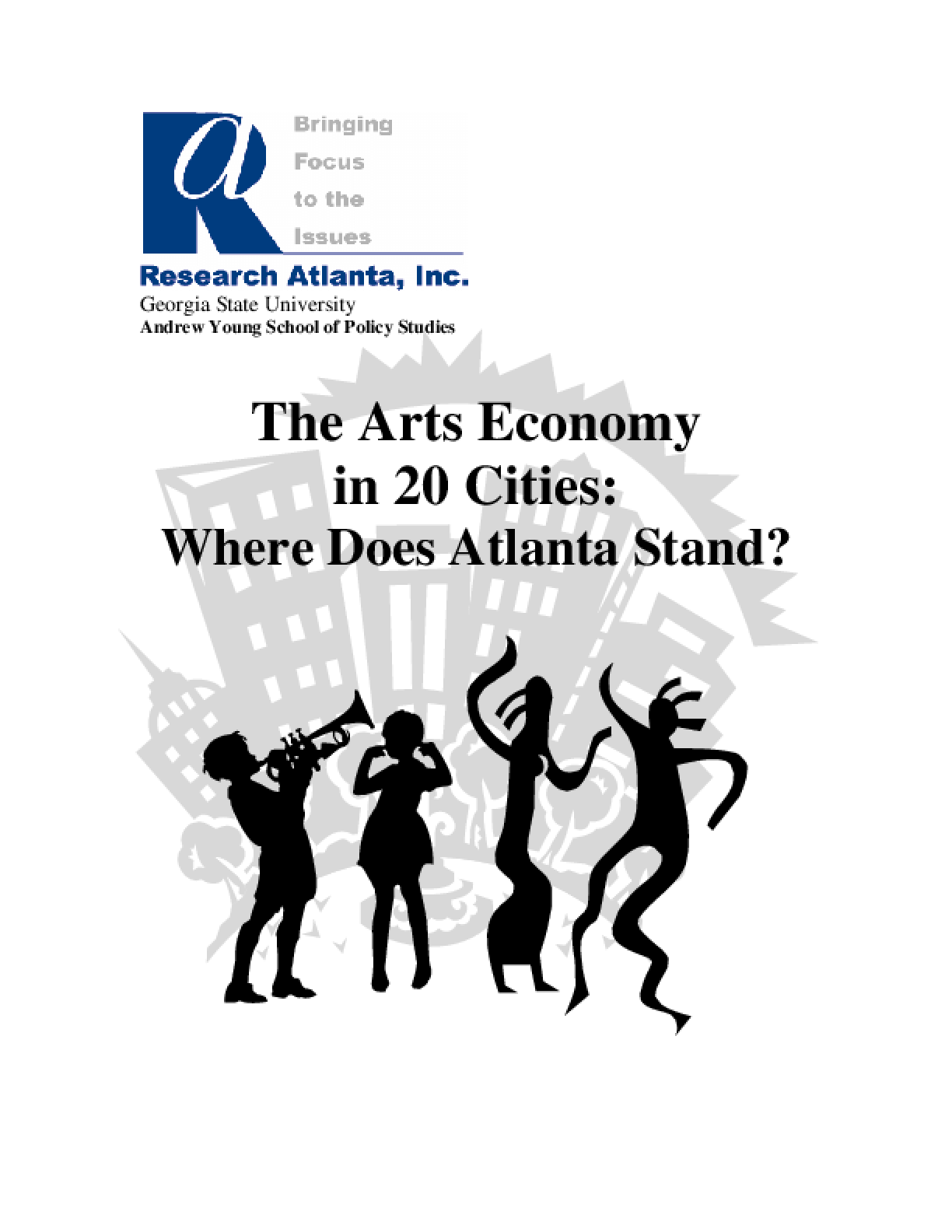 The Arts Economy in 20 Cities: Where Does Atlanta Stand?