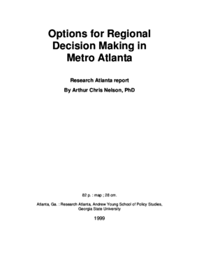 Options for Regional Decision Making in Metro Atlanta