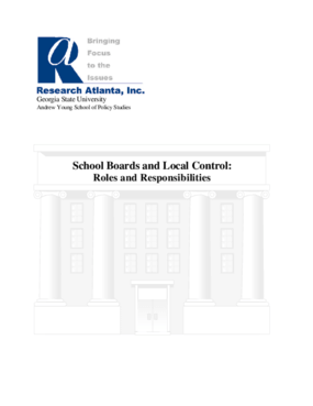 School Boards and Local Control: Roles and Responsibilities