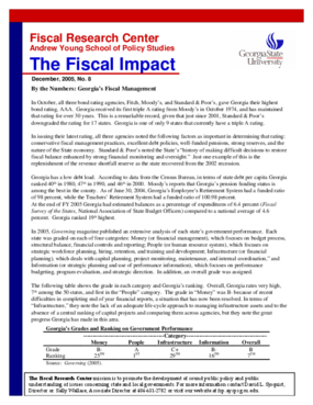 By the Numbers: Georgia's Fiscal Management