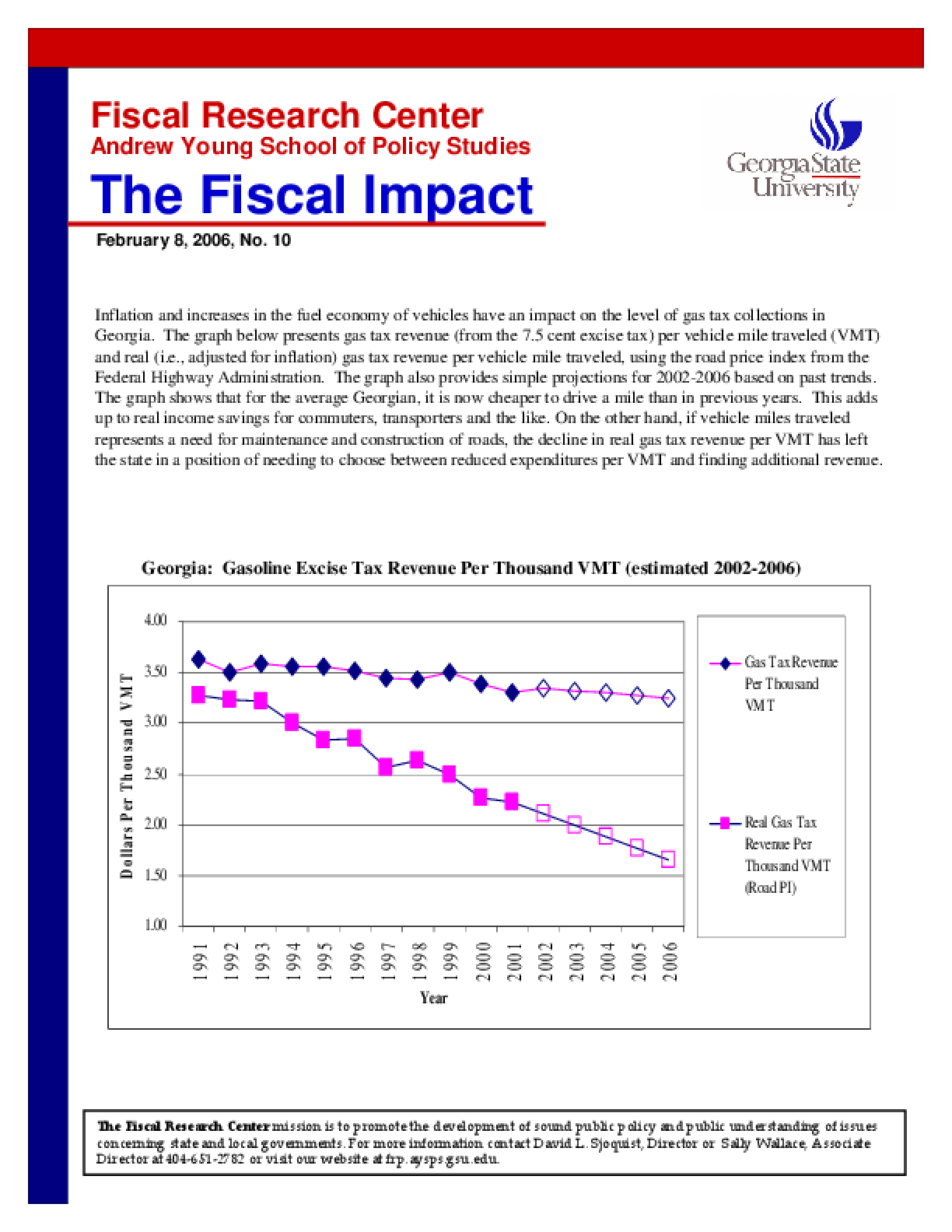 Trends in Gas Tax Revenue