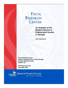 An Analysis of the Relative Decline in the Employment Income in Georgia
