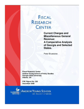 Current Charges and Miscellaneous Revenues: A Comparative Analysis of Georgia and Selective States