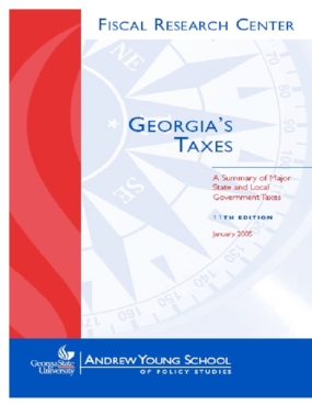 Georgia's Taxes: A Summary of Major State and Local Government Taxes, 11th Edition