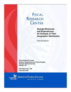Georgia Revenues and Expenditures
