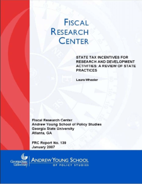 State Tax Incentives for Research and Development Activities:A Review of State Practices