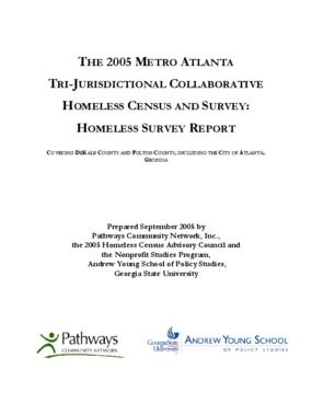 The 2005 Metro Atlanta Tri-Jurisdictional Collaborative Homeless Survey Report