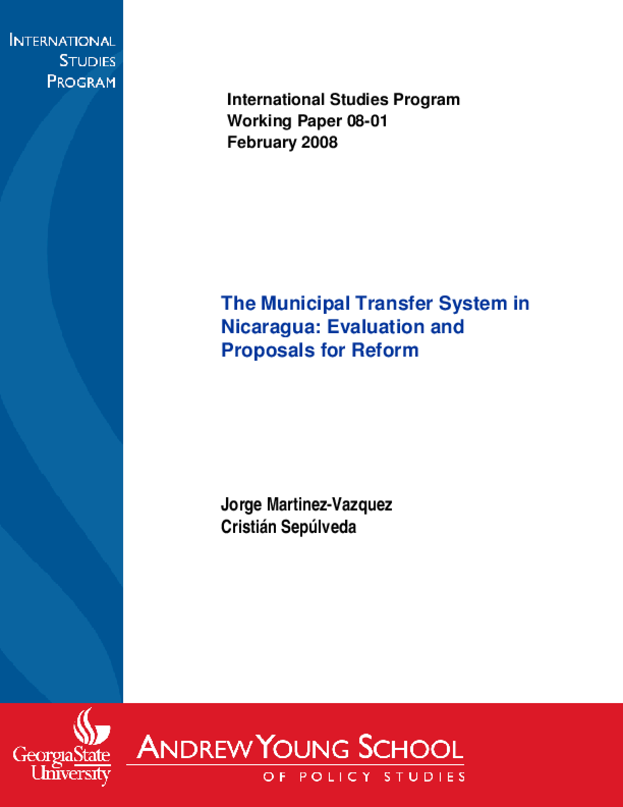 Municipal Transfer System in Nicaragua: Evaluation and Proposals for Reform, The (Updated)