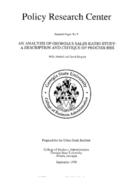 An Analysis of Georgia's Sales Ratio Study: A Description and Critique of Procedures