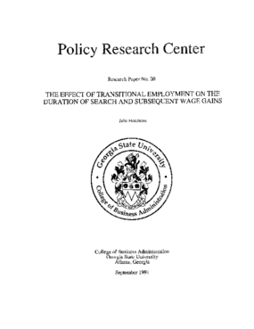 The Effect of Transitional Employment on the Duration of Search and Subsequent Wage Gains