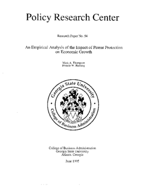An Empirical Analysis of the Impact of Patent Protection on Economic Growth