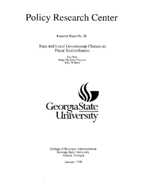 State and Local Government Choices in Fiscal Redistribution
