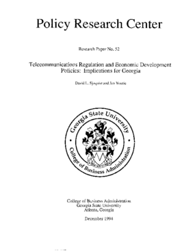 Telecommunications Regulation and Economic Development Policies: Implications for Georgia