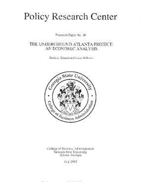 The Underground Atlanta Project: An Economic Analysis