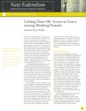 Getting Time Off: Access to Leave Among Working Parents