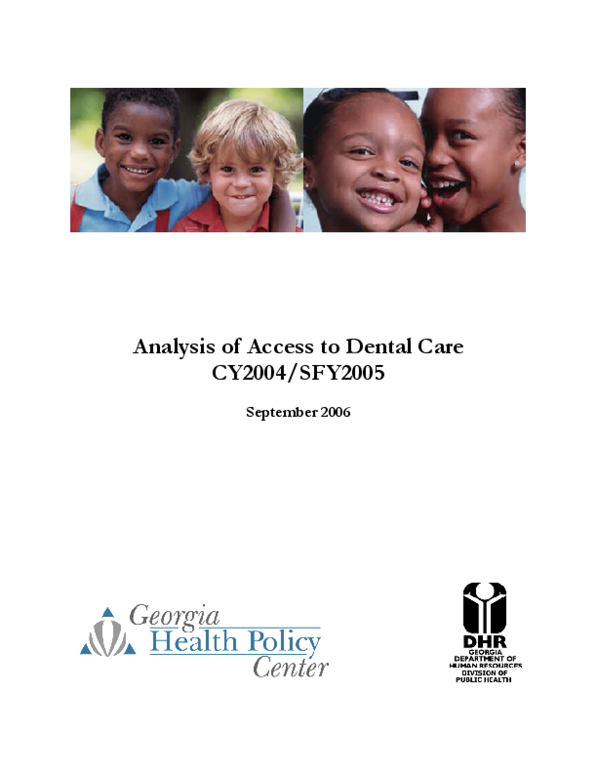 CY2004 Analysis of Access to Dental Care