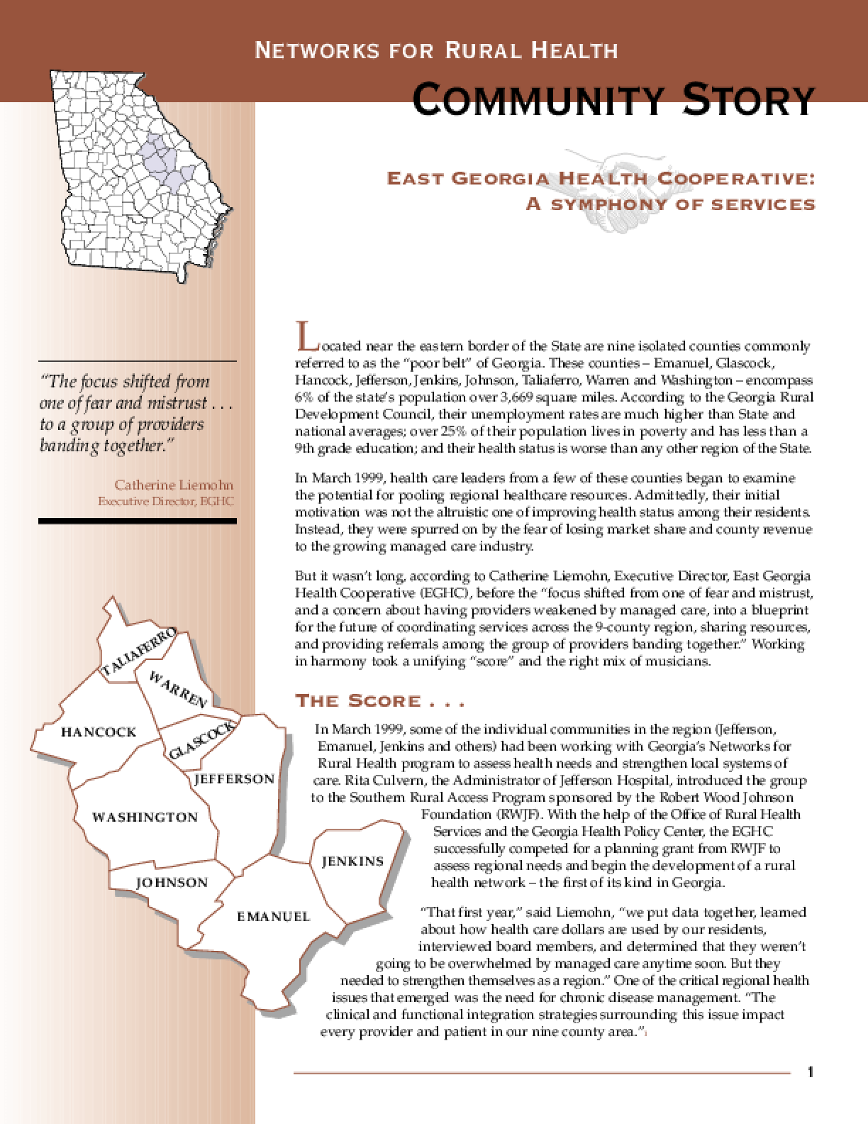 East Georgia Health Cooperative: A Symphony of Services
