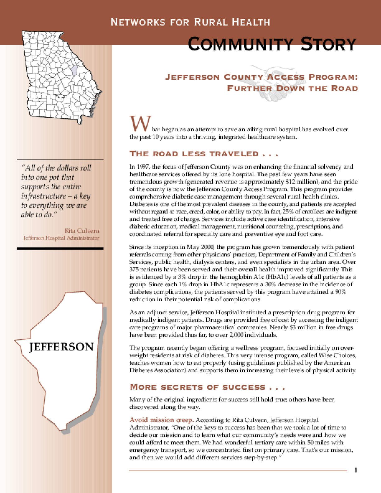 Jefferson County Access Program: Further Down the Road