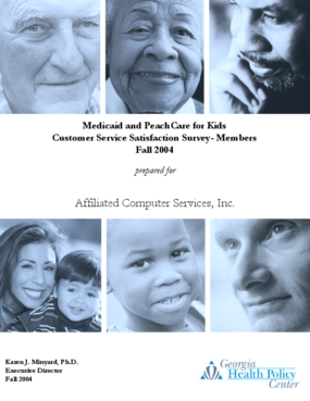 Medicaid and PeachCare for Kids: Customer Service Satisfaction Survey - Members - Fall 2004
