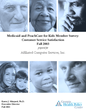 Medicaid and PeachCare for Kids Member Survey: Customer Service Satisfaction - Fall 2003