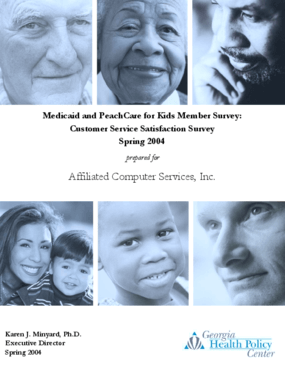 Medicaid and PeachCare for Kids Member Survey: Customer Service Satisfaction Survey - Spring 2004
