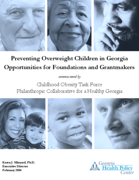 Preventing Overweight Children In Georgia: Opportunities for Foundations and Grantmakers