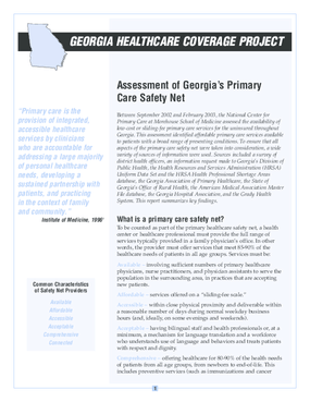Primary Care Safety Net