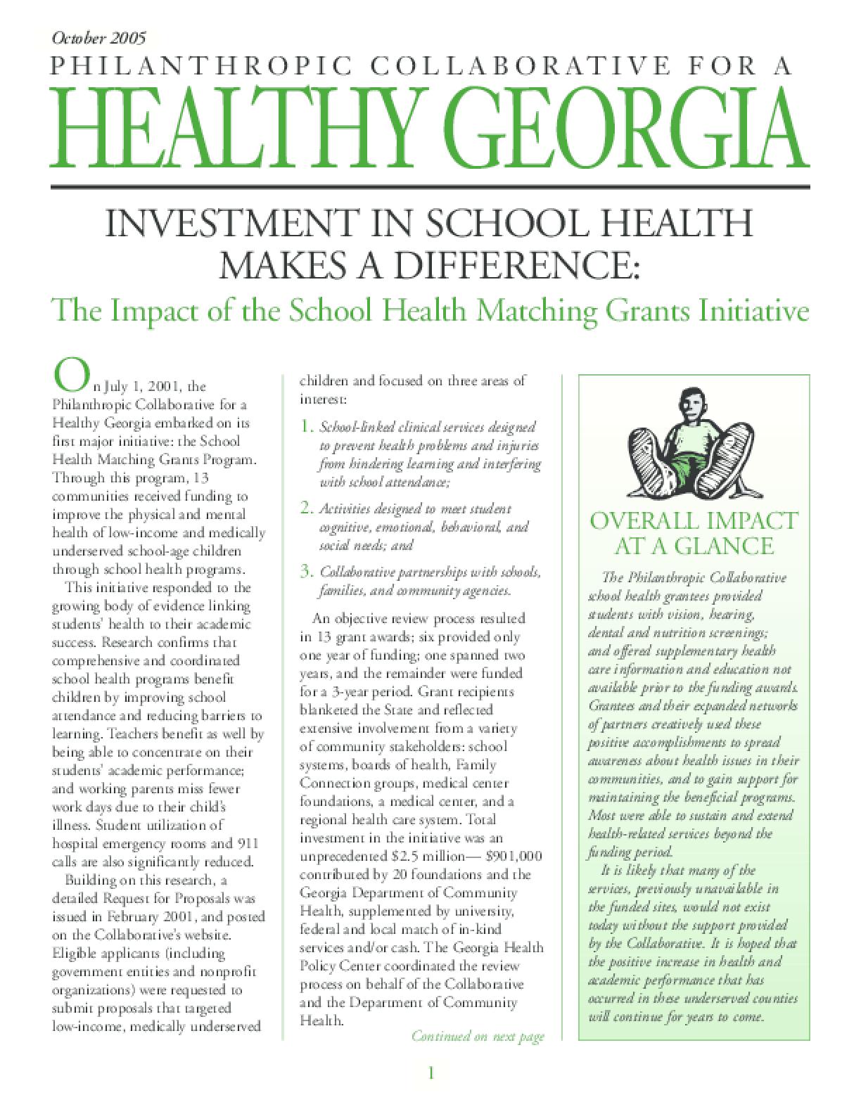 School Health Initiative Evaluation Outcomes