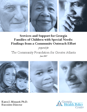 Services and Support for Georgia Families of Children with Special Needs: Findings from a Community Outreach Effort