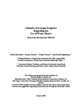 Attitudes of Georgia Irrigators Regarding the Use of Water Meters