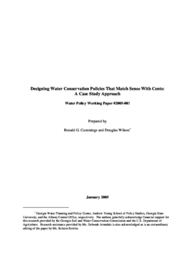 Designing Water Conservation Policies That Match Sense With Cents: A Case Study Approach