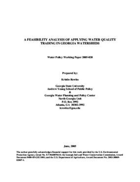 A Feasibility Analysis of Applying Water Quality Trading