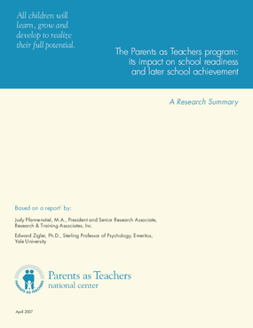The Parents as Teachers Program: Its Impact on School Readiness and Later School Achievement