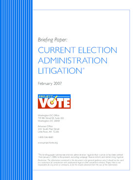 Current Election Administration Litigation