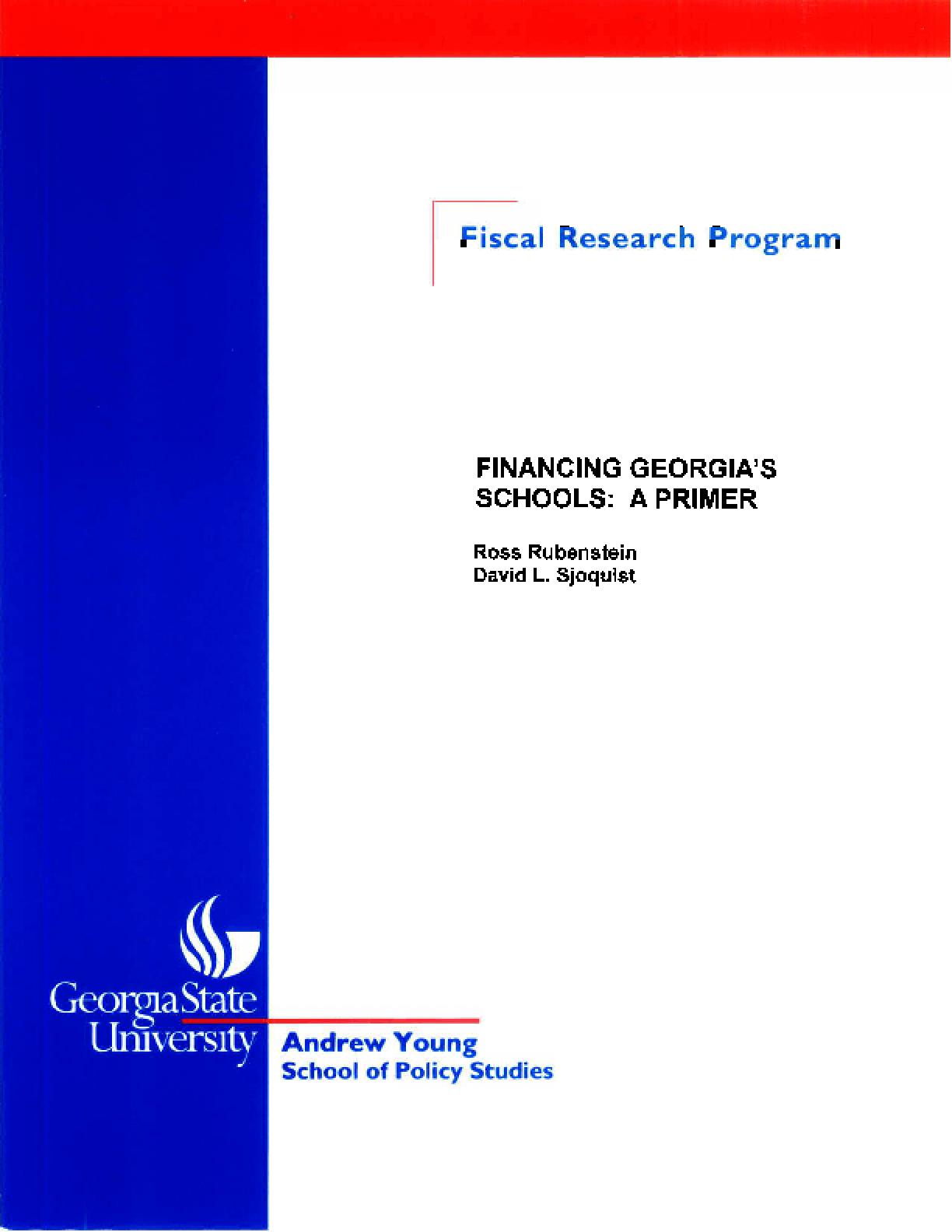 Financing Georgia's Schools: A Primer