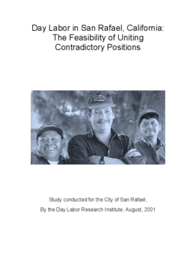 Day Labor in San Rafael, California: The Feasibility of Uniting Contradictory Positions