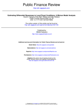 Estimating Differential Responses to Local Fiscal Conditions: A Mixture Model Analysis