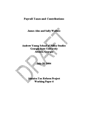 Payroll Taxes and Contributions in Jamaica