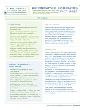 2007 Voter Survey on Gun Regulations Fact Sheet