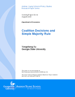 Coalition Decisions and Simple Majority Rule